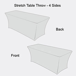 High Definition Stretch Table Cloth Stretch Fit Table