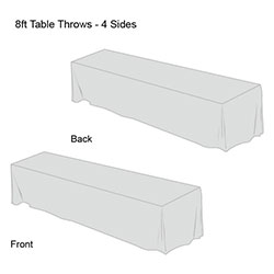 Solid Color Table Throw-8