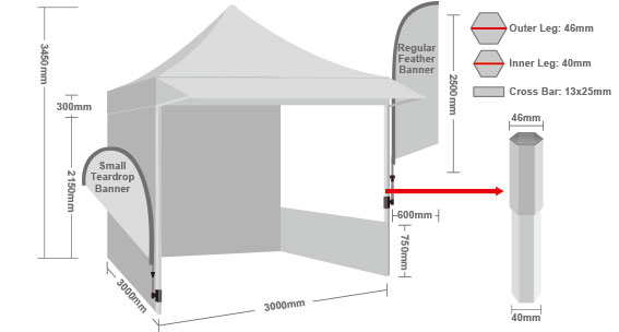 Printed Marquee with Side Walls-4