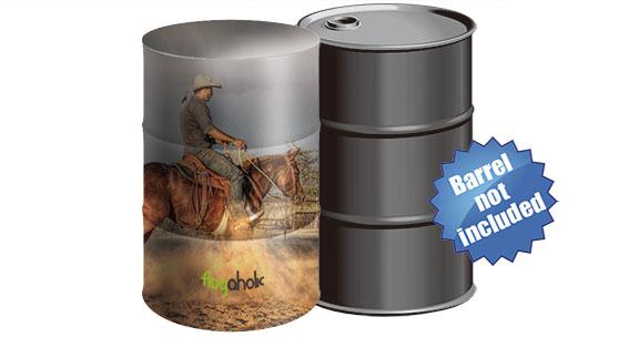 barrel covers stretch shapes custom printed drum